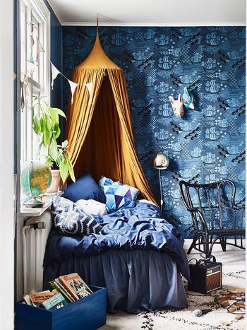 Все оттенки синего в квартире шведского блогера