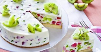 Торт - желе с фруктами