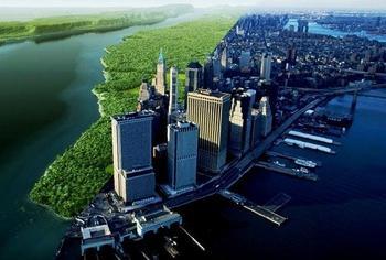 До урбанизации: как выглядел Манхэттен до застройки небоскребами