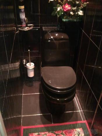 Абсолютно черный туалет. До и после ремонта