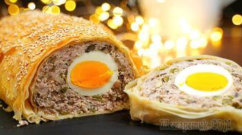 Горячее блюдо из фарша на Новогодний стол  – красиво и очень вкусно