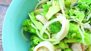 Морской салатик с брокколи