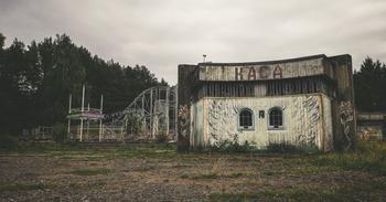 Заброшенный парк советских аттракционов в Литве