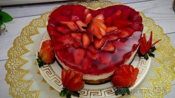 Творожный торт без выпечки и сливочного масла