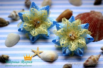 Канзаши бантики и цветы из атласных лент своими руками