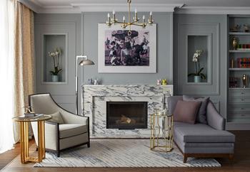 Дом в современной классике для семьи коллекционеров в Подмосковье
