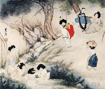 Корейский художник Син Юнбок  (신윤복). 1758 ~ ?