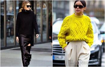 Учимся у звезд: Как носить свитер, чтобы стать иконой стиля