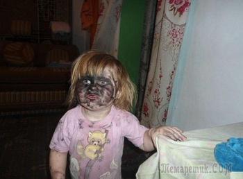 Смешные фотографии, показывающие, что произойдет, если оставить детей одних без присмотра