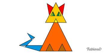 Сколько треугольников в этом котике?