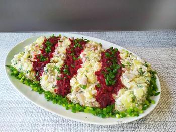 Полосатый салат.