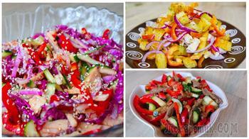 Топ 3 салата без майонеза. Необычные, сочные, вкусные!