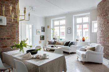 Воздушный интерьер квартиры в Гетеборге