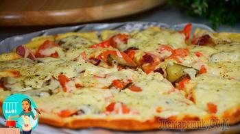 Быстрая пицца на сковороде - это очень вкусно!
