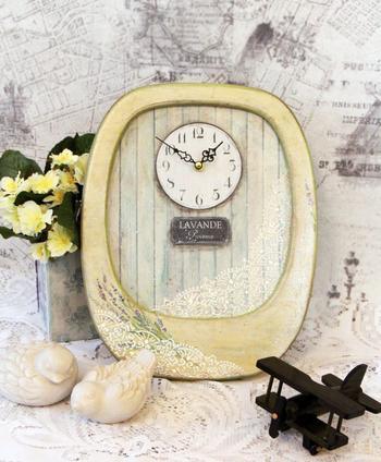Часы с лавандой для украшения интерьера
