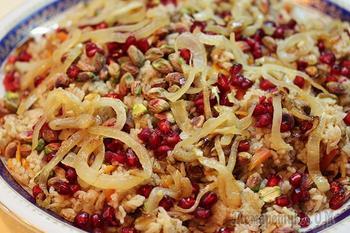 Персидский рис по-королевски и три вида кебабов