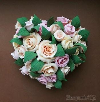 Мастер класс: делаем сердце из роз