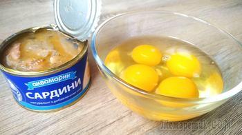 Банка консервы, яйца и 10 минут вашего времени!