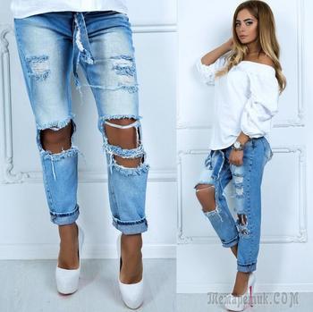 Делаем дырки и эффект потертости на джинсах своими руками