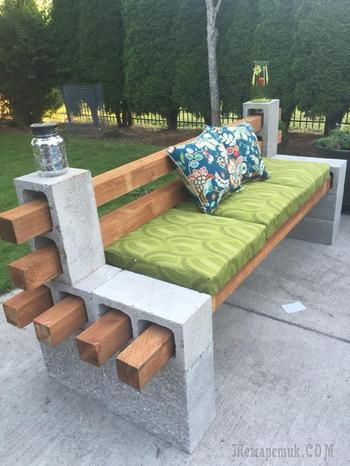 Садовые диваны, которые можно сделать самостоятельно