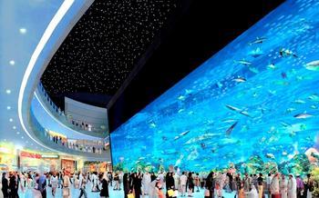 Дубай - современная сказка Шахеразады 6. Дубай Молл - аквариум и водопады -ролики