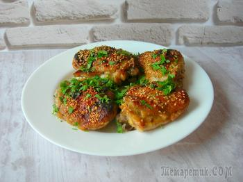 По-восточному ароматная, золотистая, сочная и аппетитная курица