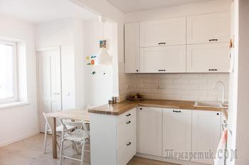 Трансформация «однушки» свободной планировки в уютную квартиру для семьи с ребенком