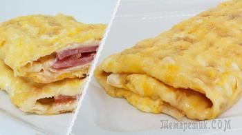 Вкуснейший завтрак за 5 минут из лаваша (с начинкой)
