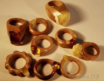 Делаем стильные кольца из дерева