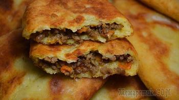 Картофельные пирожки с фаршем – пошаговый рецепт пирожков жареных на сковороде с фаршем из картофельного теста
