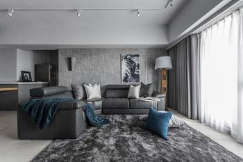 Стильная квартира в серых тонах в Тайване