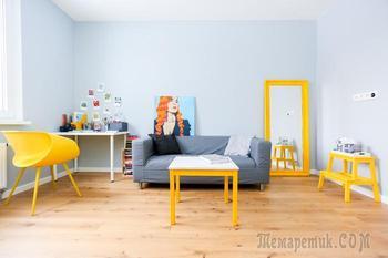 Светлая квартира с разноцветными акцентами