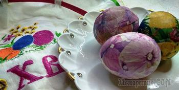 Декупаж яиц натуральными красителями
