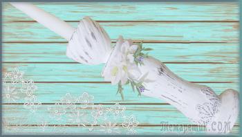 Подсвечник для высоких свечей в стиле шебби шик своими руками