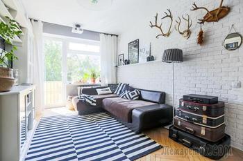 Стильная скандинавская трешка 59 м²