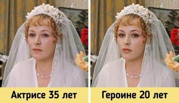 Актёры, чей возраст не совпадал с возрастом их персонажей