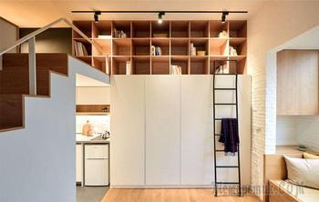 Как на площади в 22 кв. м. оборудовали квартиру-студию, в которой есть все для комфорта