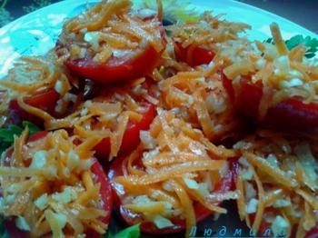 Закуска помидоры по-корейски - просто и вкусно!