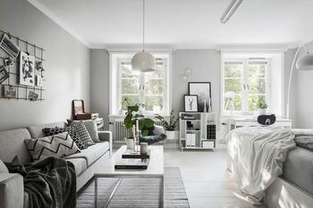 Дизайн небольших пространств: открытый интерьер квартиры в 44 кв. м