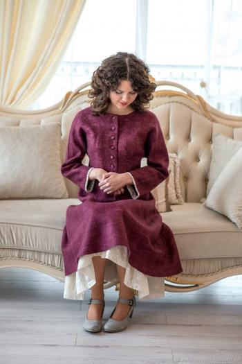Уникальные платья из валяной шерсти от Натальи Ивановой