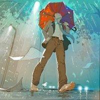 Прогулка с дождём (Стих)