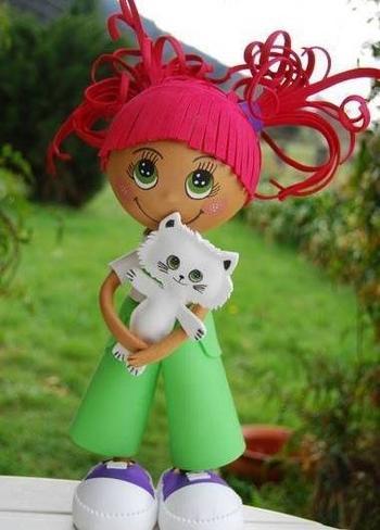 Великолепные куклы из фоамирана