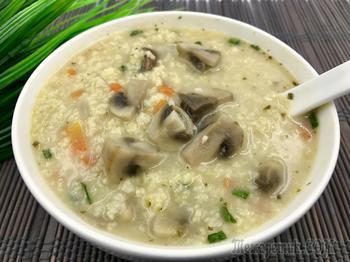 Постный грибной суп с пшеном