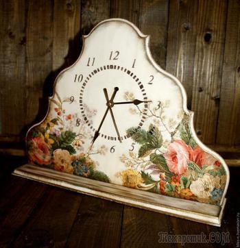 Цветочные часы. Объемный декупаж