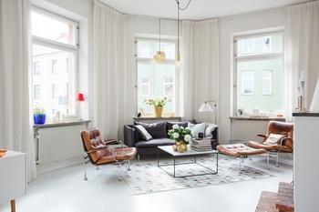 Интерьер светлой шведской квартиры