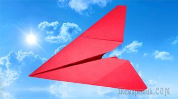 Как сделать бумажный самолетик из листа А4 за 2 минуты