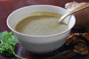 Крем-суп из сныти с грибами - невероятно вкусно!