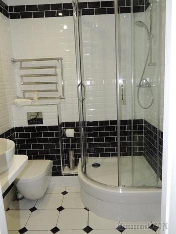 Ванная комната: из туалета сделали гардеробную и постирочную, унитаз перенесли в ванную