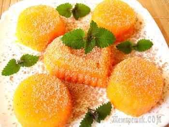 Десерт из тыквы с апельсиновым ароматом