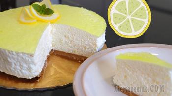 Невесомый муссовый торт без выпечки // Торт лимонный мусс
